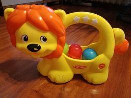 Zabawka interaktywna,kreatywna Playskool lew z piłeczkami,lew kuleczka