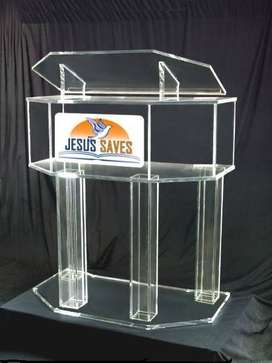 Double Top Boxed Clear Legs Podium/ Pulpit