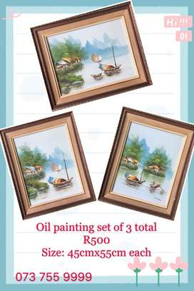 Oil painting set of 3