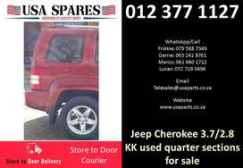 Jeep Cherokee 3.7/2.8 KK 2008-13 used quarter sections for sale