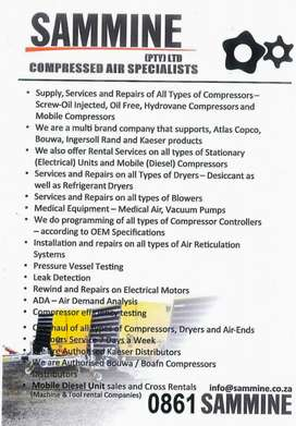 Supply, Services and Repairs of all Types of Compressors