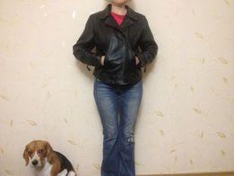 Кожаная куртка,мото,женская