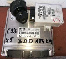 Sterowniki silnika+ kluczyk z wkład.stac+imobilajzer BMW E53 X5 3.0D