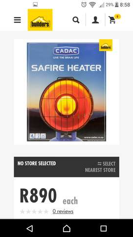 Heater. Cadac Stainless Steel Gas Heater R 520. A New  one cost R 900.