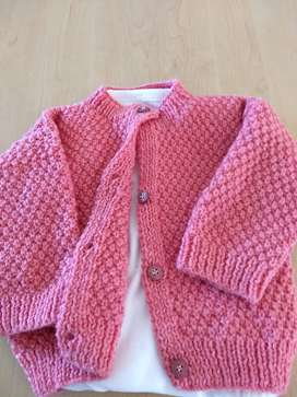 Baby hand knitted clothing