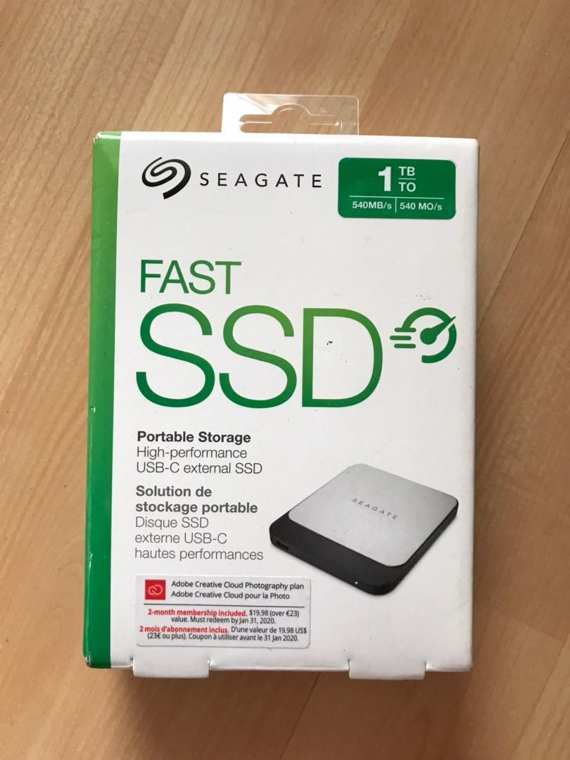 Seagate SSD fast 1TB 0