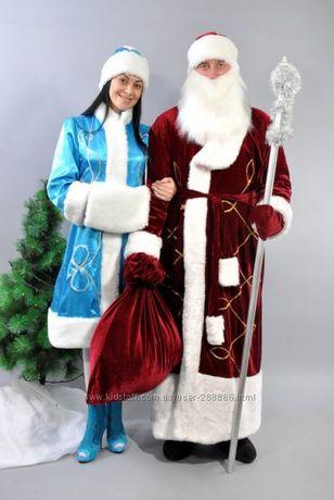 Комплект Костюм Дед мороз бордовый и Снегурочка бирюзовый Мелитополь - изображение 3