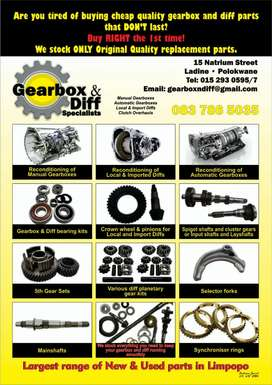 New Gearbox and Diff Parts in Limpopo!