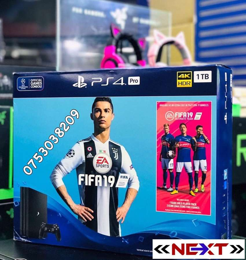 PS4 Pro 1TB 4k HDR Fifa 19 Bundle With Enhanced Graphics And Gameplay 0