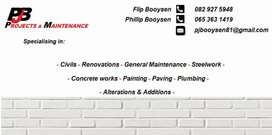 PJB projects and maintenance