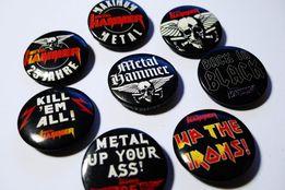 Значки Metal Hammer Iron Maiden Metallica ACDC