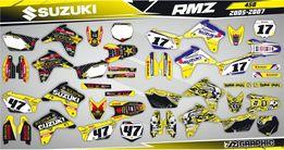 Наклейки Графика Suzuki RM RMZ DRZ Djebel DR 85 125 250 400 450 650