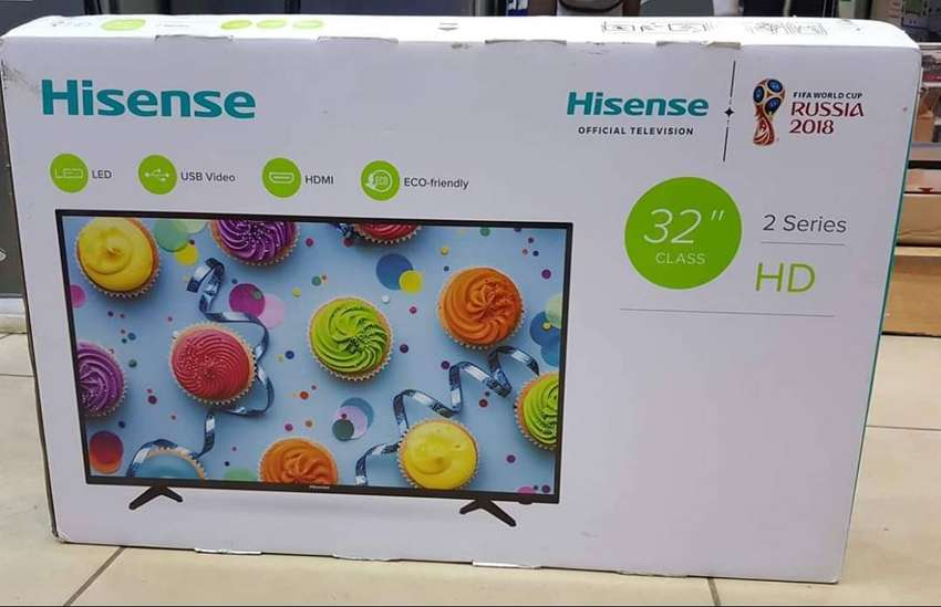 Brand new Hisense 32inches digital TV. Order we deliver 0