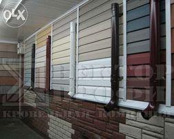 Сайдинг виниловый, цокольный, металлический блок хаус, фасадные панели