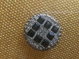 пуговица 25 мм с камнями Swarovski (3шт в наличии)