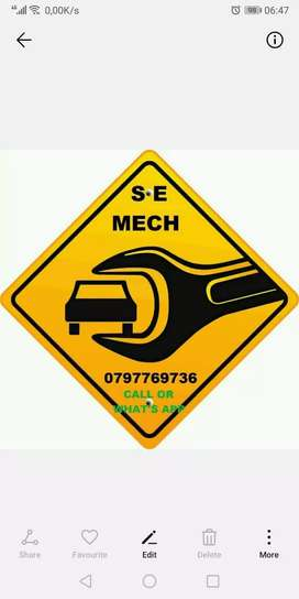 Major and minor services to cars and Bakkies