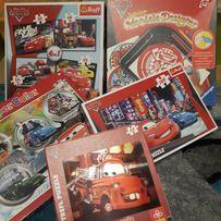 Puzzle Cars 4 szt oraz zestaw do kreślenia