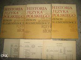 historia języka polskiego 3 tomy zenon klemensiewicz warszawa 1985