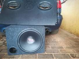 15 inch Star Sound Subwoofer with box and pioneer 6/9 speakers