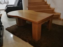 Stół z litego drewna dębowy, masywny, kawowy , extra stan , ciężki