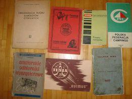 Zestaw starych książek , stara książka instrukcje PRL , tesla
