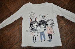 bluzka w dziewczynki H&M r.134/140 biała