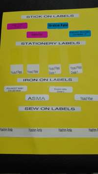 Image of Stationery and Clothing Labels