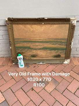Very Old Frame with Damage