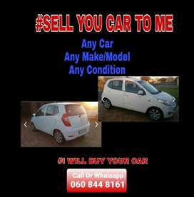 Sell me any car. I Will buy as is