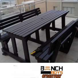 Car wash and braai benches