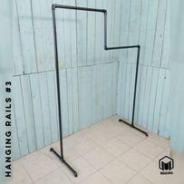 №3 Вешалка Loft для одежды из труб лофт, стойка торговое оборудование