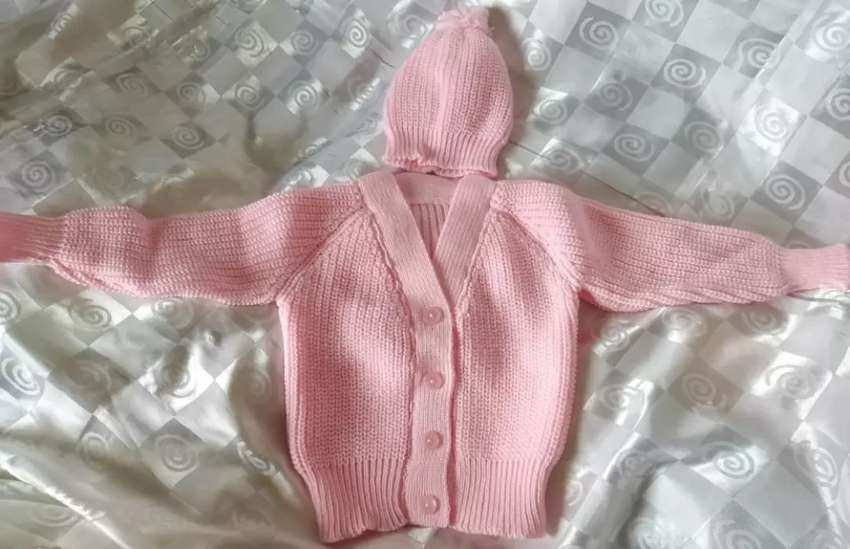 Brand New Beautiful Light Pink Home Knitted Jersey and Beanie Set