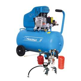Tradeair 50L 1.5KW Compressor With 5 Piece Tool Kit (MCFRC109)