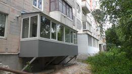 Балкони під ключ.Прибудова балконів.