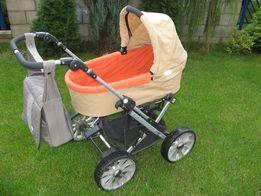 Wózek TEUTONIA spacerówka + gondola + nosidełko Maxi Cosi