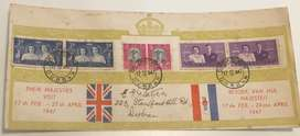 1947 FDC Their Majesties visit 17 Feb to 27 April 1927