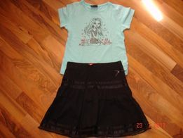 Spódniczka GIRLS + bluzeczka_ 128