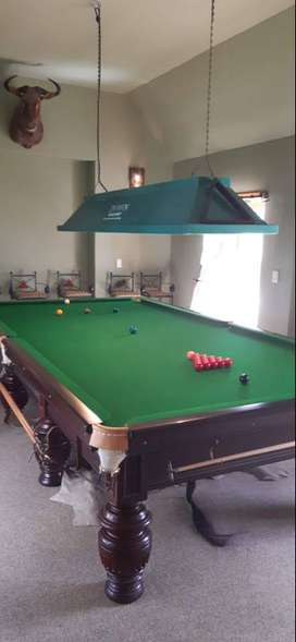 Mint Condition Burroughs and Watts Antique Snooker Table Made in 1910