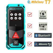 Лазерный дальномер рулетка Mileseey T7 40 м Bluetooth Сенсорный цветно
