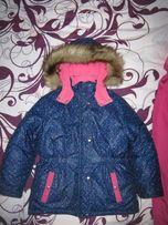 Зимняя термо-куртка на девочку 4-6 лет