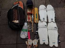 Cricket gear for sale.