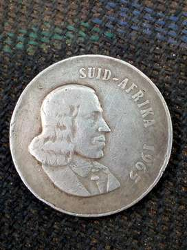 Rare 1965 20c afrikaans coin