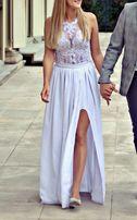 Suknia ślubna, body + dwie spódnice