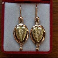 Золотые старинные серьги самовары