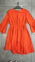 Sukienka H&M pomarańczowa rozm. 38