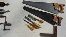 Vintage Woodworking Tools - Saws & Chisels