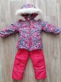 Зимний костюм куртка и полукомбинезон для девочки р. 92