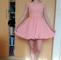 Brzoskwiniowa sukienka r.36
