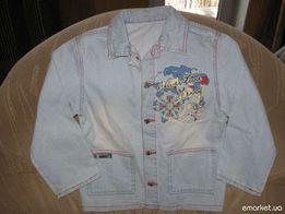 Курточка джинсовая для мальчика 110-116см