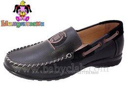 Туфли-мокасины шалунишка коричневые 35 р-р